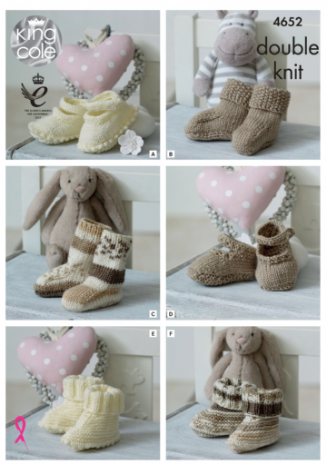 Baby Socks, Bootees and Shoes, King Cole 4652
